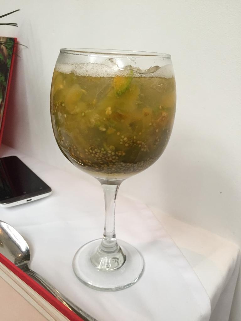 Lulada drink at Platillo Voladores, Cali