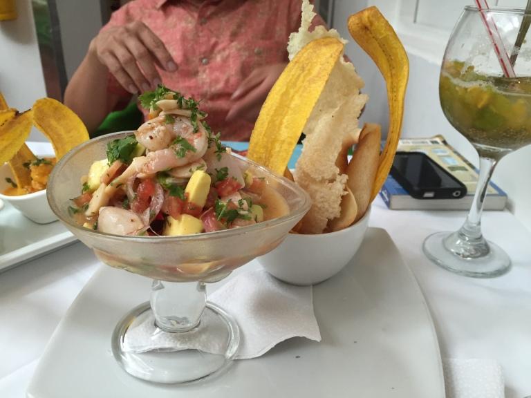 Ceviche at Platillo Voladores, Cali - Best Ever!
