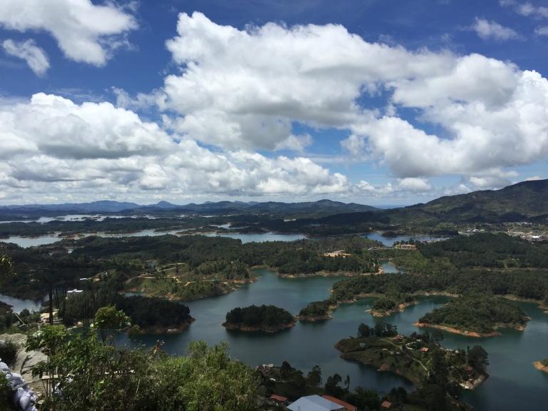 View From El Peñol de Guatape, Antioquia
