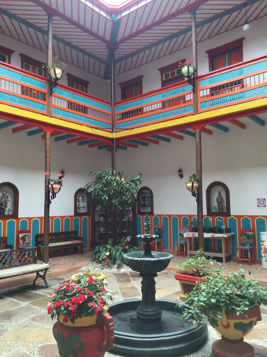 Courtyard of Hotel Jardin in Jardin