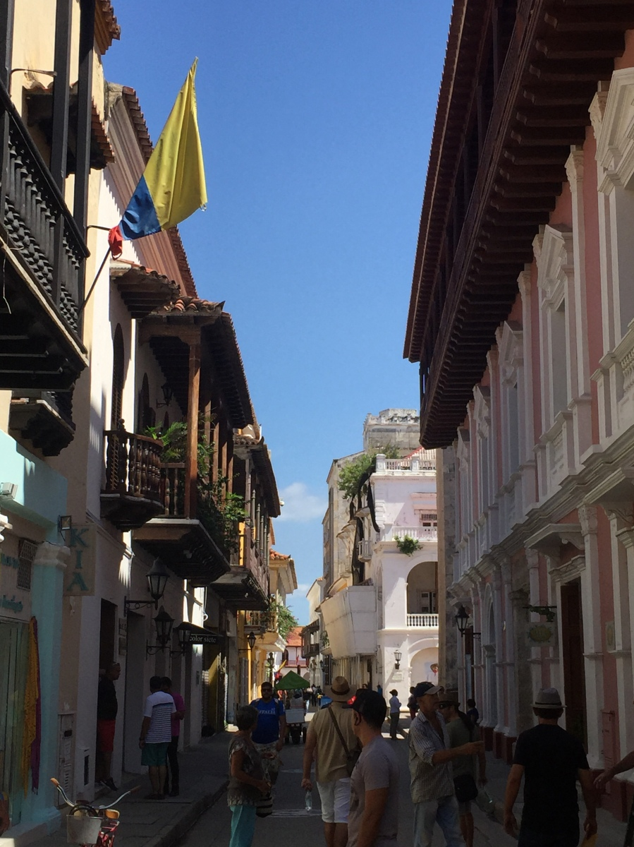 Streets of Old Town Cartagena, Santo Domingo Neighborhood