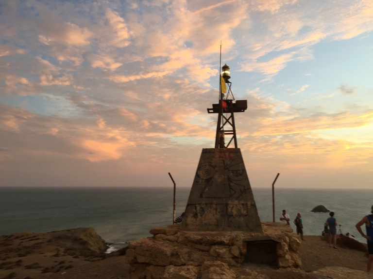 Sunset at the Faro de Cabo De La Vela (Lighthouse)