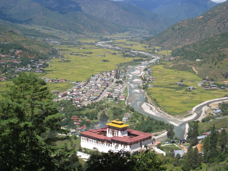 View of Paro From Our Hike