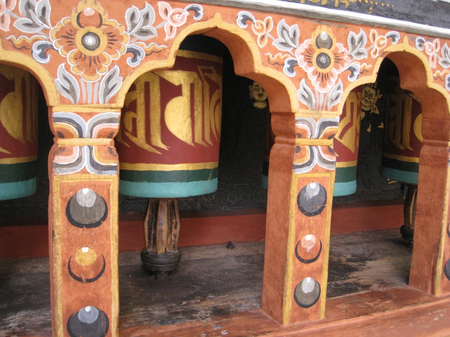 Prayer Wheels in Rinpong Dzong