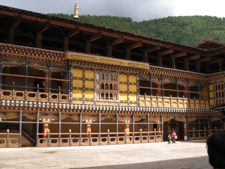 One of the Main Courtyard inside of Rinpong Dzong