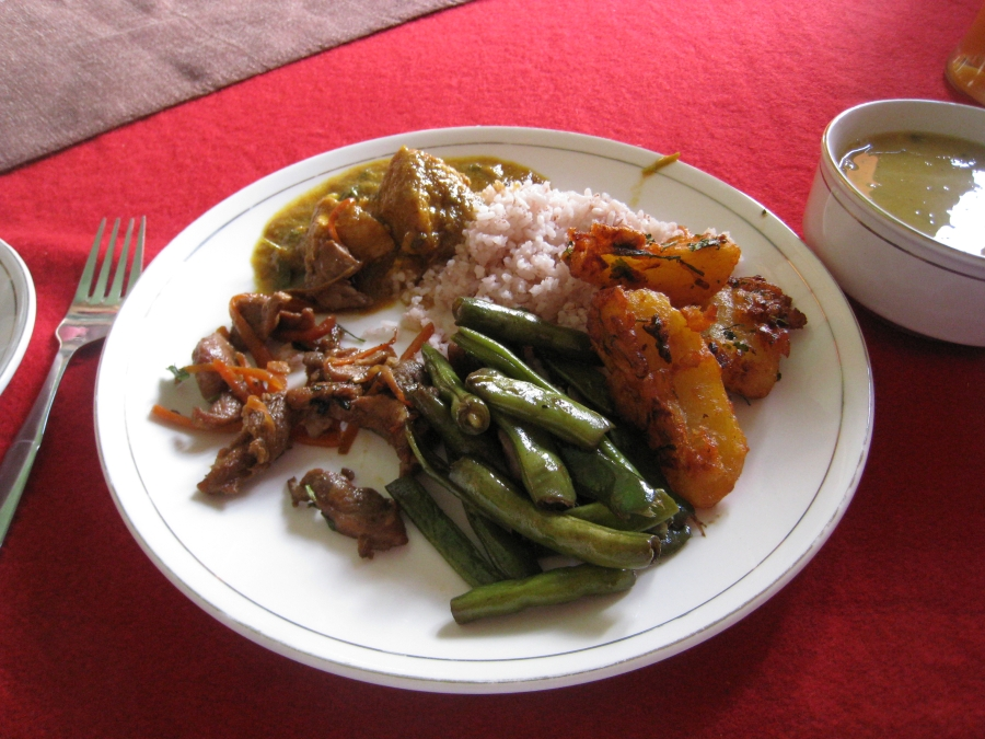 Local Lunch at Yue-Ling Restaurant in Paro - I Am Addicted To The Green Chilis.
