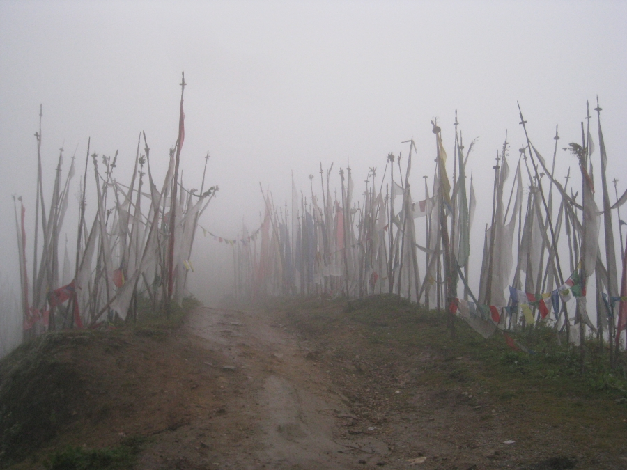 Prayer Flags on The Chelela Pass - The Highest Point at 3,998 Metres Above Sea Level.