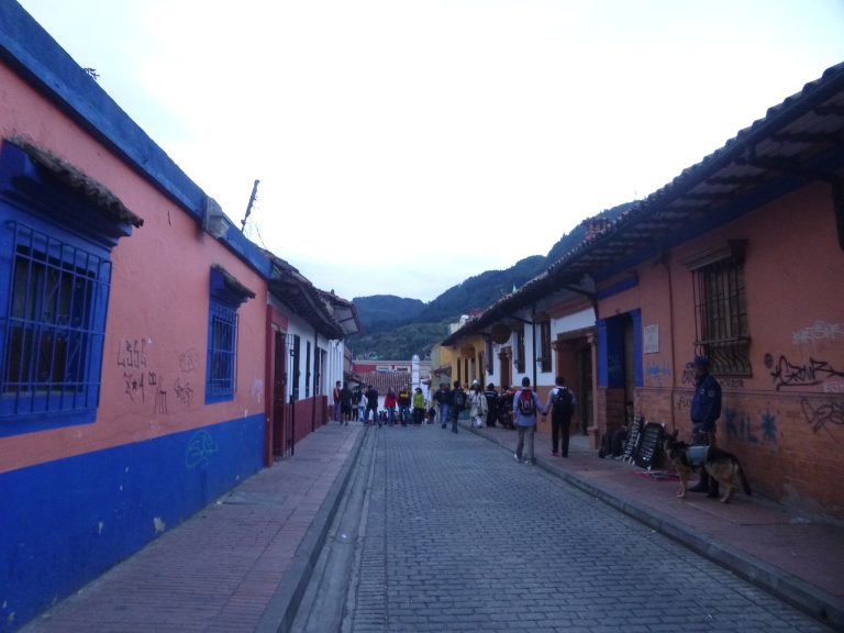 One of the cobble-stoned street in La Candelaria