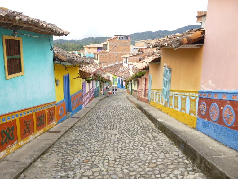 Typical Street in Guatape, Antioquia