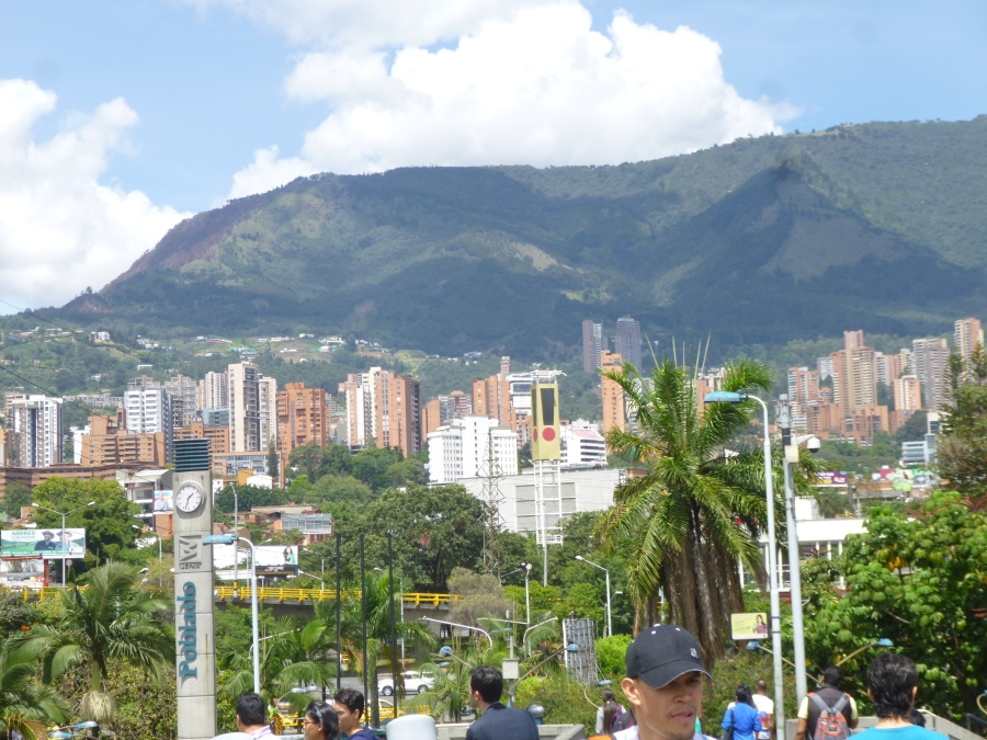 El Poblado Neighborhood - Photo Taken From El Poblado Subway Station