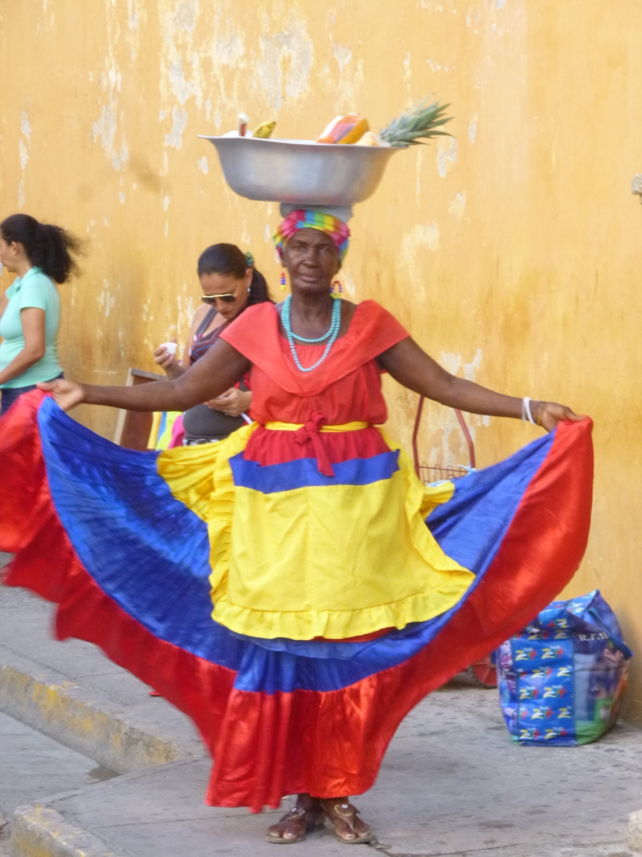Palenquera Lady in Cartagena