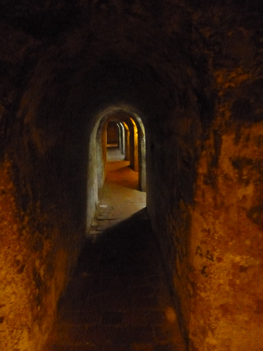 Tunnels of Castle San Felipe, Cartagena. The Tunnels Are Use As Defense Strategy And They Are Interconnected Under The Whole Castle
