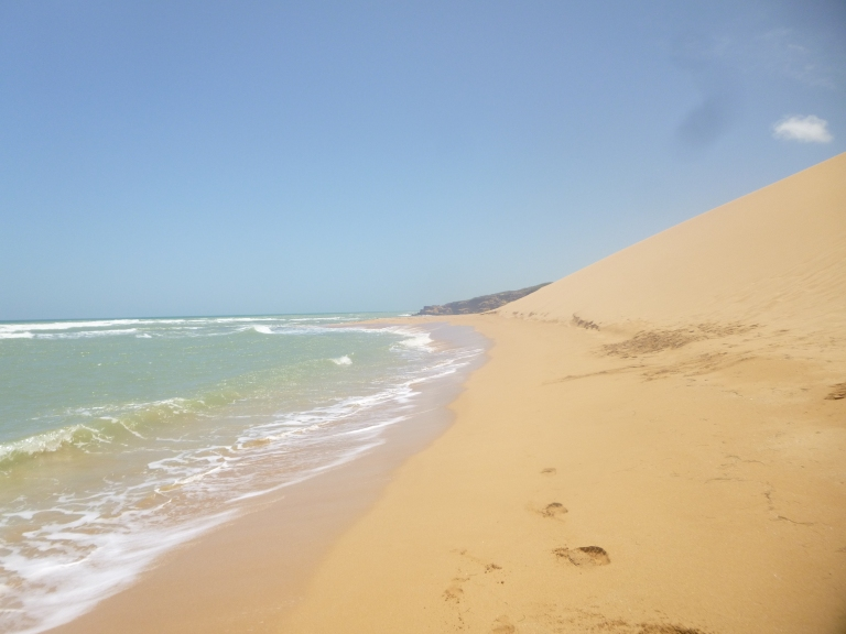 Sand Dunes of Taroa in Punta Gallina