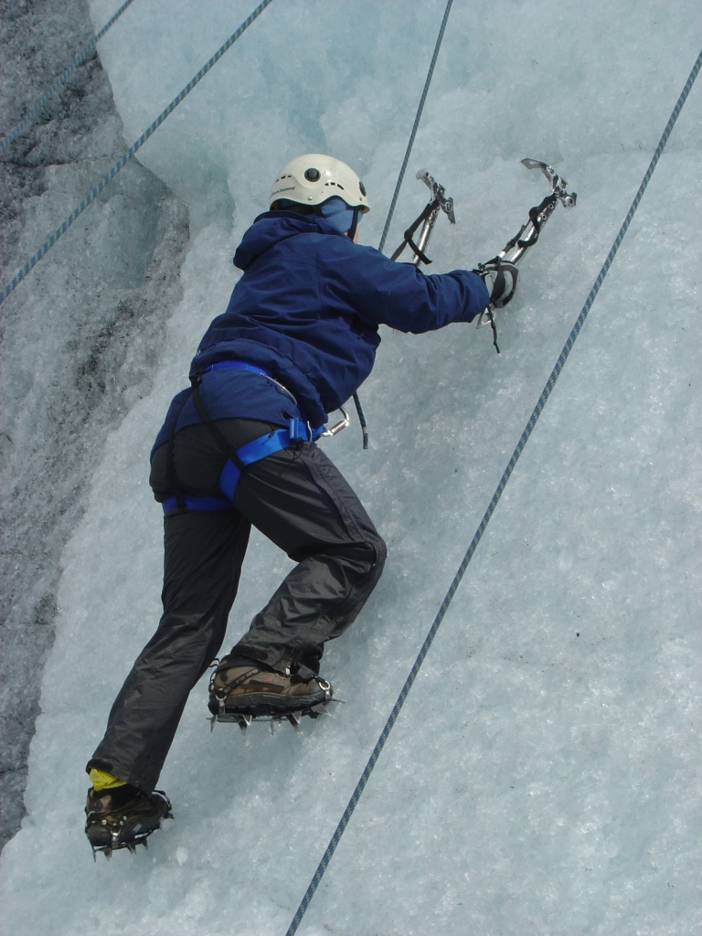 Trying Ice Climbing in Grey Glacier, Patagonia, Chile