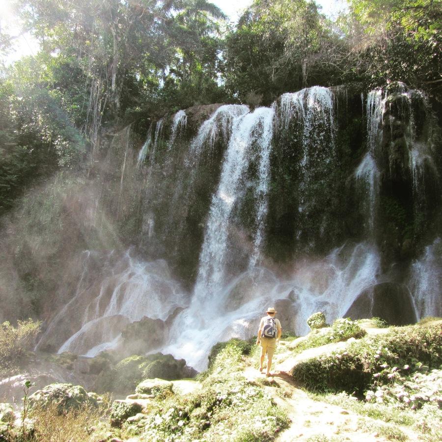 One of the Bigger Waterfalls in Parque El Nicho