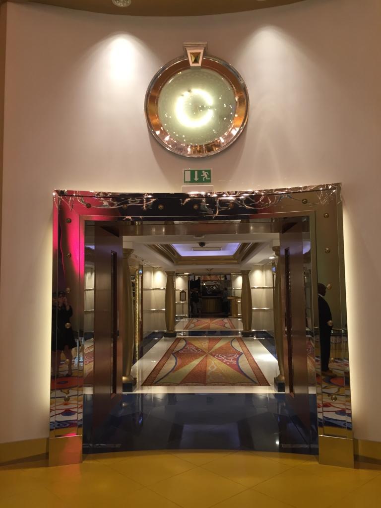 Mosaic beautiful hallway to the lift to take us to the Skyview Bar of Burj Al Arab