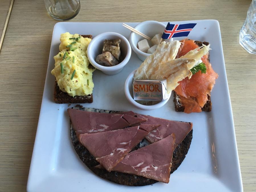 Seemingly innocent Icelandic Plate II at Cafe Loki